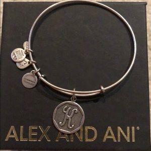Alex and Ani K Silver Bracelet